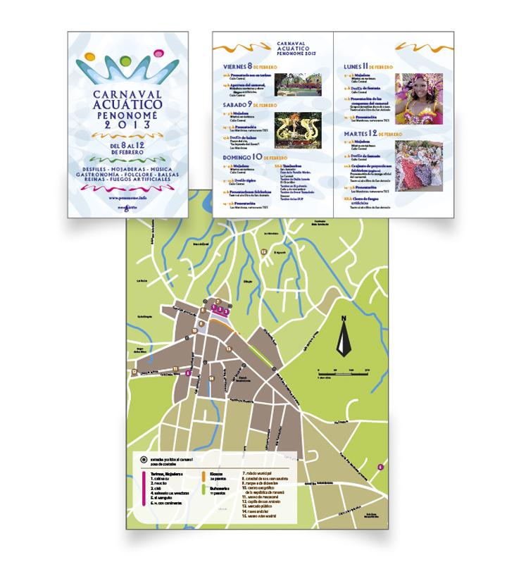 Programa de mano del Carnaval Acuático de Penonomé 2013