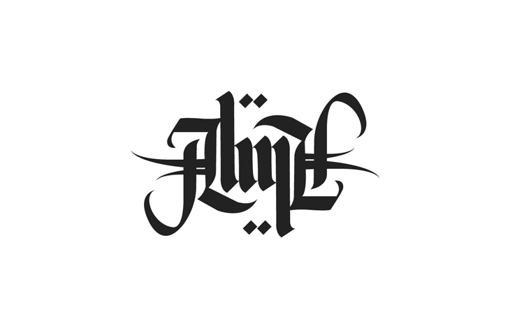 Ambigrama de Alma